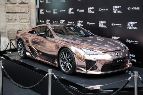 Lexus LFA Rose Gold Street Impact